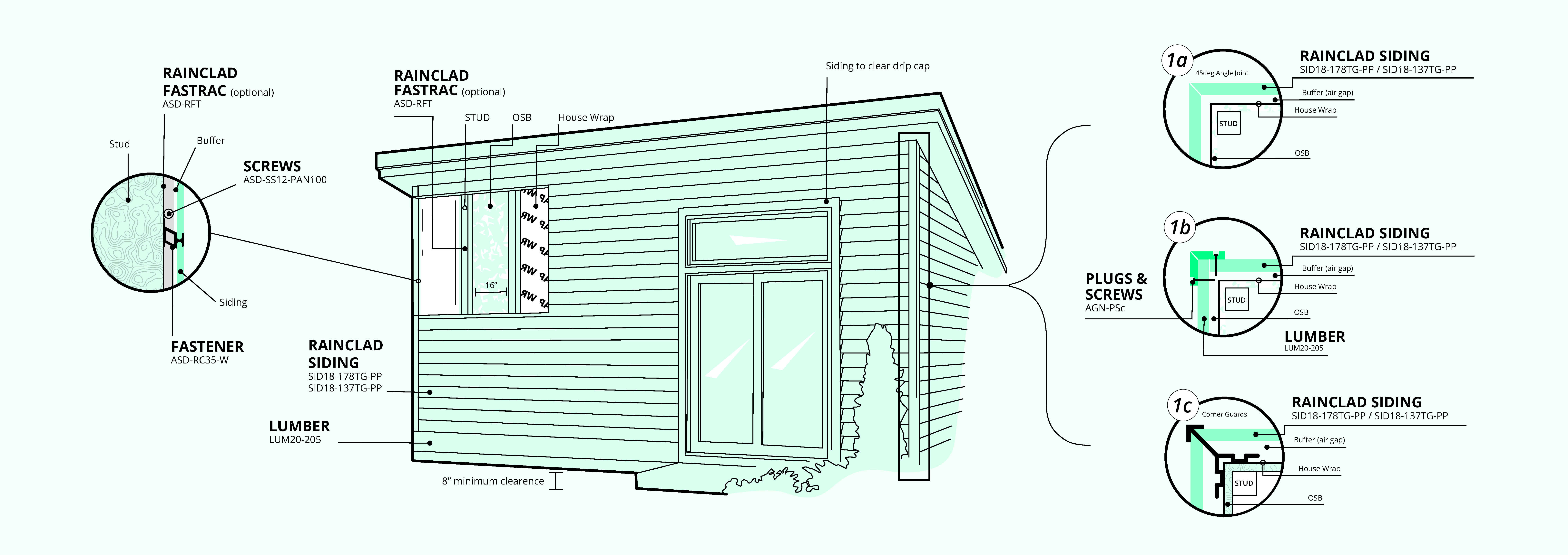 rainclad siding layout and how to guide