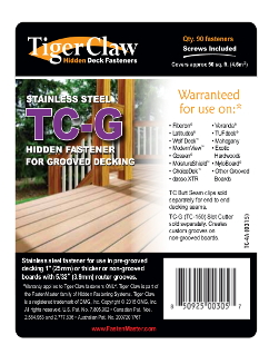 Tigerclaw Decking Fasteners