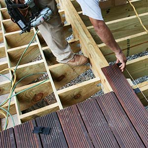 building a bamboo deck