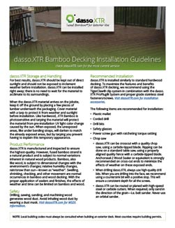 decking installation manual