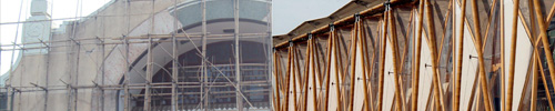 How is Bamboo used in construction? Bamboo scaffolding and Decorative Architecture.