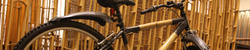 Bamboo can be manufactured into bicycles and skateboards