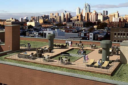 Green Roof Philadelphia concept drawing