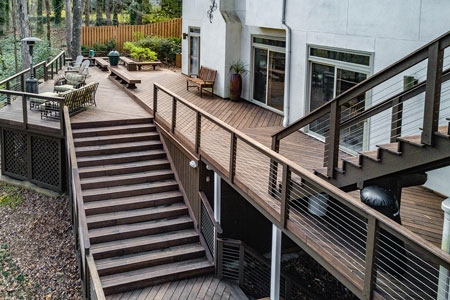 Valley Hall Outdoor Deck and Stairs