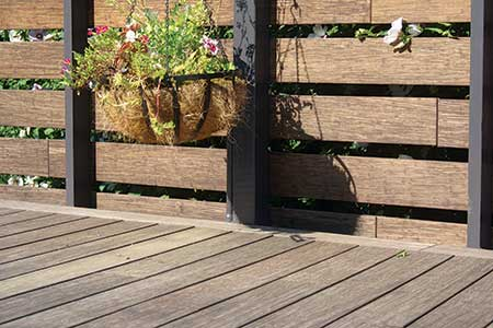 Bamboo deck constructed with dasso.XTR fused bamboo decking