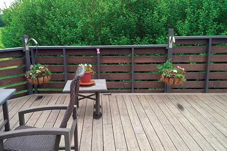 Exterior deck constructed with dasso.XTR fused bamboo decking
