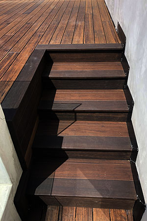 Our new project in Los Angeles, using dassoXTR Classic Espresso product for the exterior use