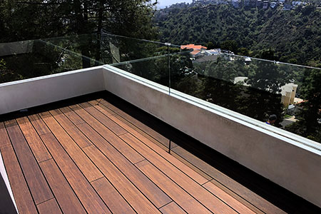 The structure of Fused Bamboo is perfect for applications in the exterior for both residential and commercial use