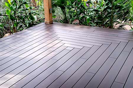 dasso.XTR Bamboo Porch Flooring used in private residence