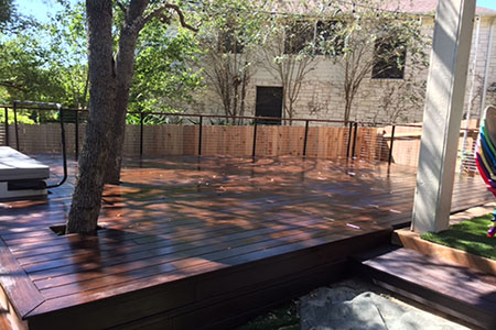 Build with dassoXTR, a hardwood decking product made of fused bamboo,  is less expensive than some tropical hardwoods, 100% sustainable and will last for decades.