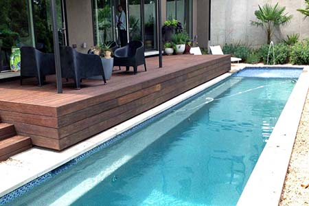200 Sq. meters dassoXTR deck used near the swimming pool. Finished in 2013.
