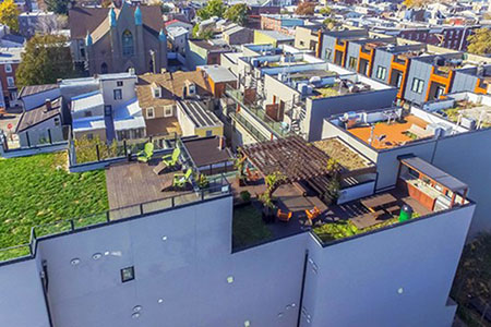 Total view of the decking project