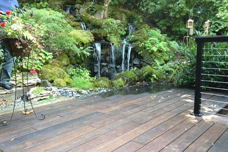 Private deck constructed with dasso.XTR fused bamboo decking