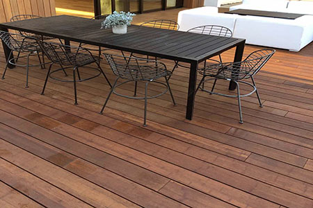 Look at this premium bamboo product for exterior use. Epic Cognac dassoXTR fused bamboo for both residential and commercial use