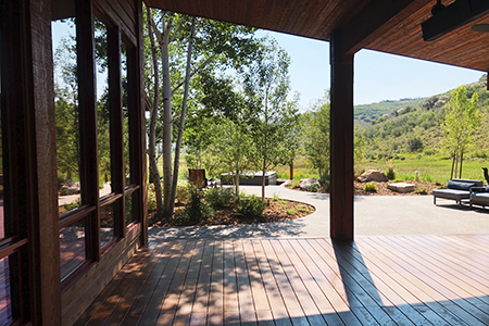 Looking back to this project built in Park City, Utah. It was 279 pcs. installed in October 2019. This beautiful deck with Epic Cognac Fused Bamboo® decking, bamboo for the exterior use.